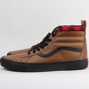 Vans Sk8 Hi MTE Leather Plaid Sneakers